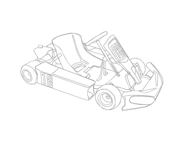Dirt Racing Go Kart Coloring Pages Coloring Pages
