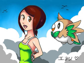 Lylatroid and Rowlet by Deviantroid