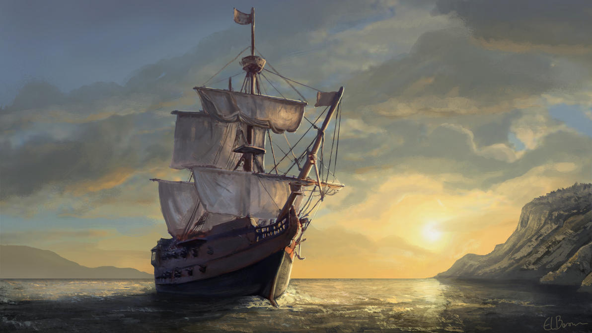 Pirate Ship Concept by eddieshred