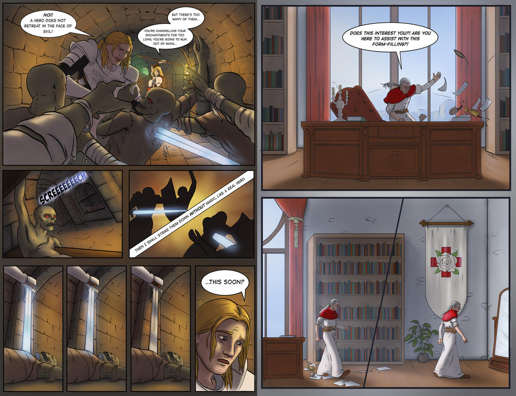 Pangaea Comic (page 2 and page 9) by eddieshred