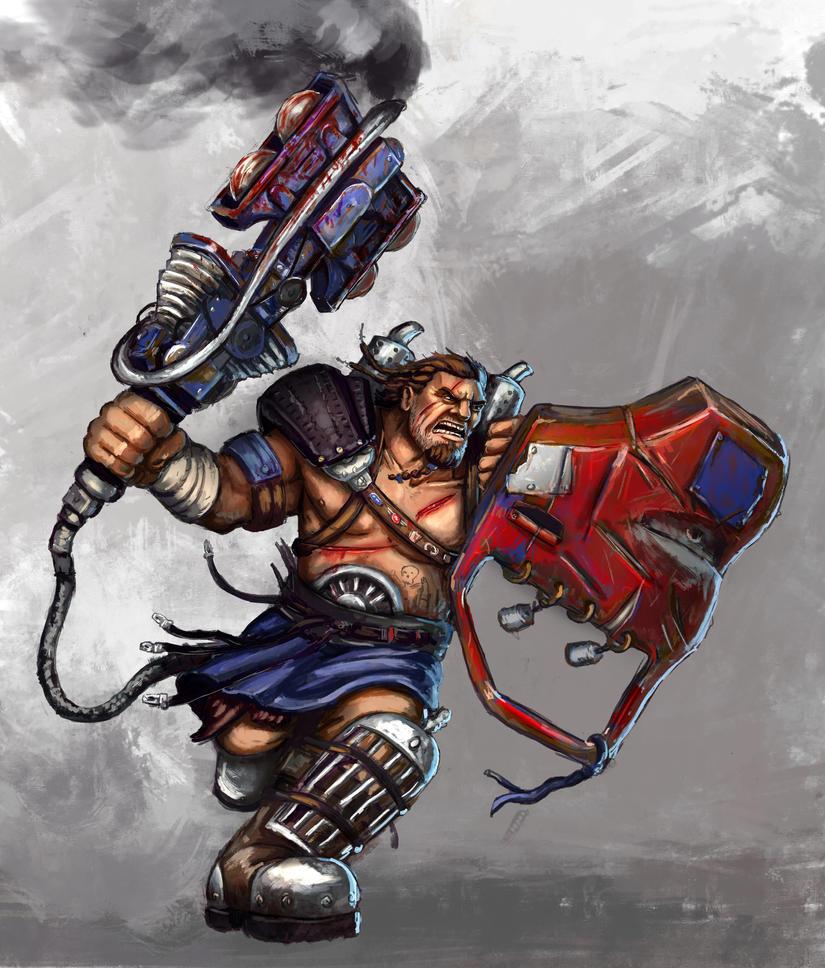 Scrapyard Gladiator by eddieshred