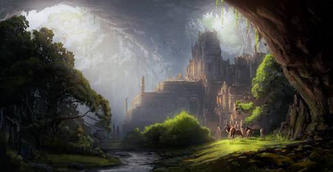 Forgotten Temple by eddieshred