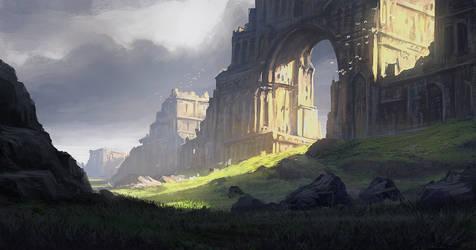 Arch Ruins by eddieshred