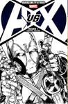 deadpool drawn on AVX #1 blank variant
