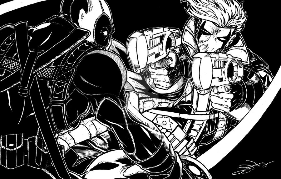 Deadpool vs Grifter by Dingodile24