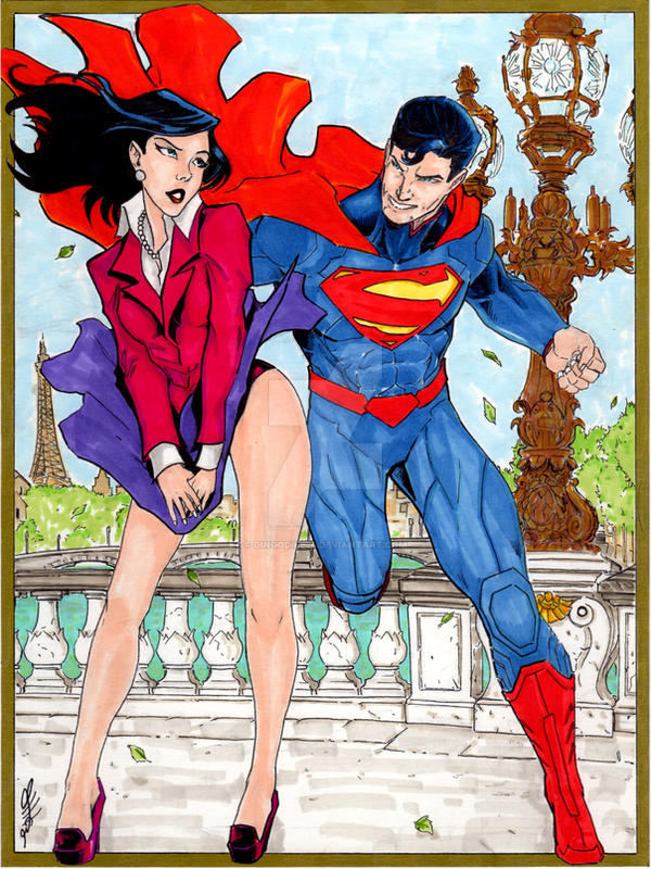 Superman And Lois Lane Commissioned Art By Dingodile24 On