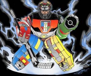 Voltron the Ice Hockey Goalie