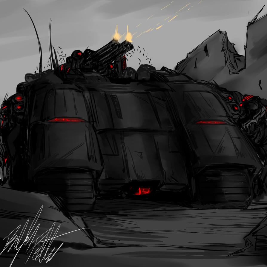 Concept:Lem Assault Transport by PeterPrime