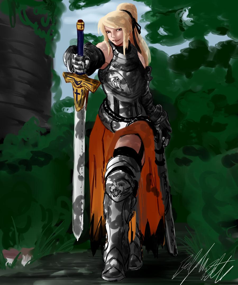 OC: Lucetta Holy Avenger Armor by PeterPrime