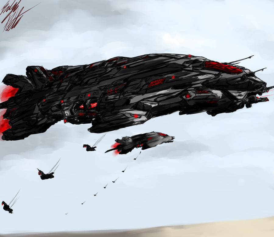 Lemurian Heavy Transport by PeterPrime