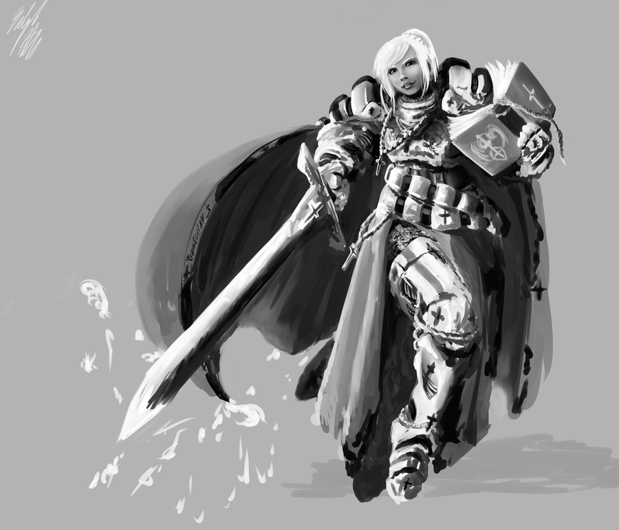 Concept - Lucetta Holy Crusader Armor by PeterPrime