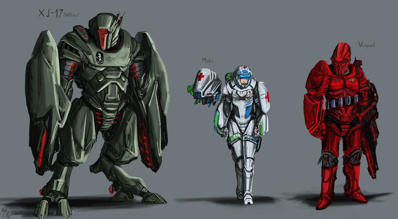 Lemurian Troopers 2 by PeterPrime