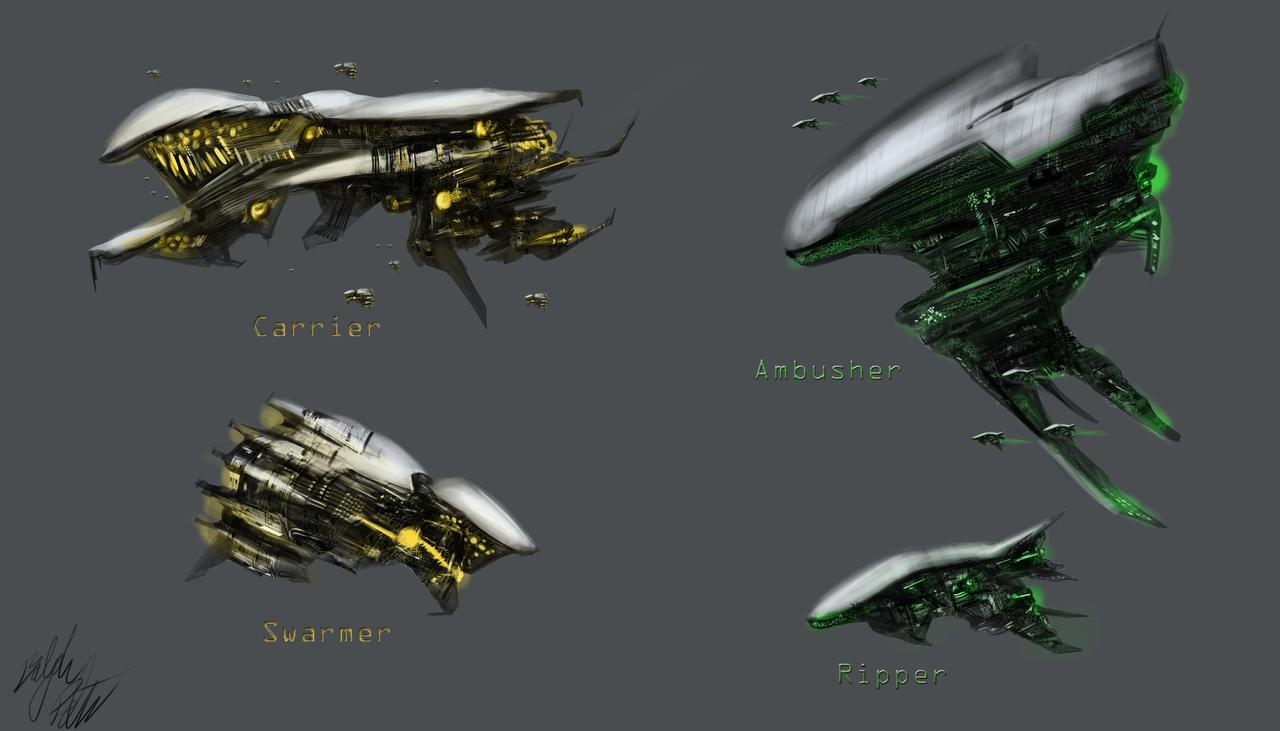 Alien Spaceship Designs by PeterPrime on DeviantArt