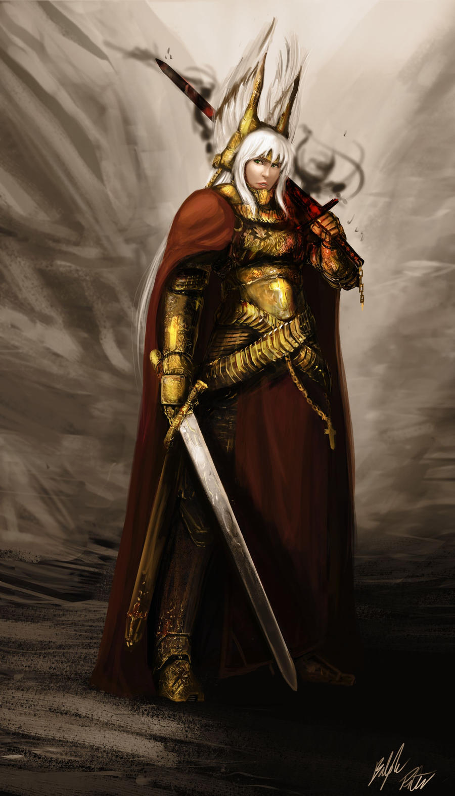 Beatrix: Saint Battle Gear by PeterPrime