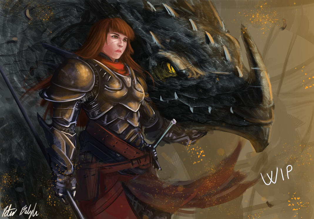 Dragon Rider Captain WIP by PeterPrime