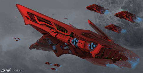 Red Rose Command Ship