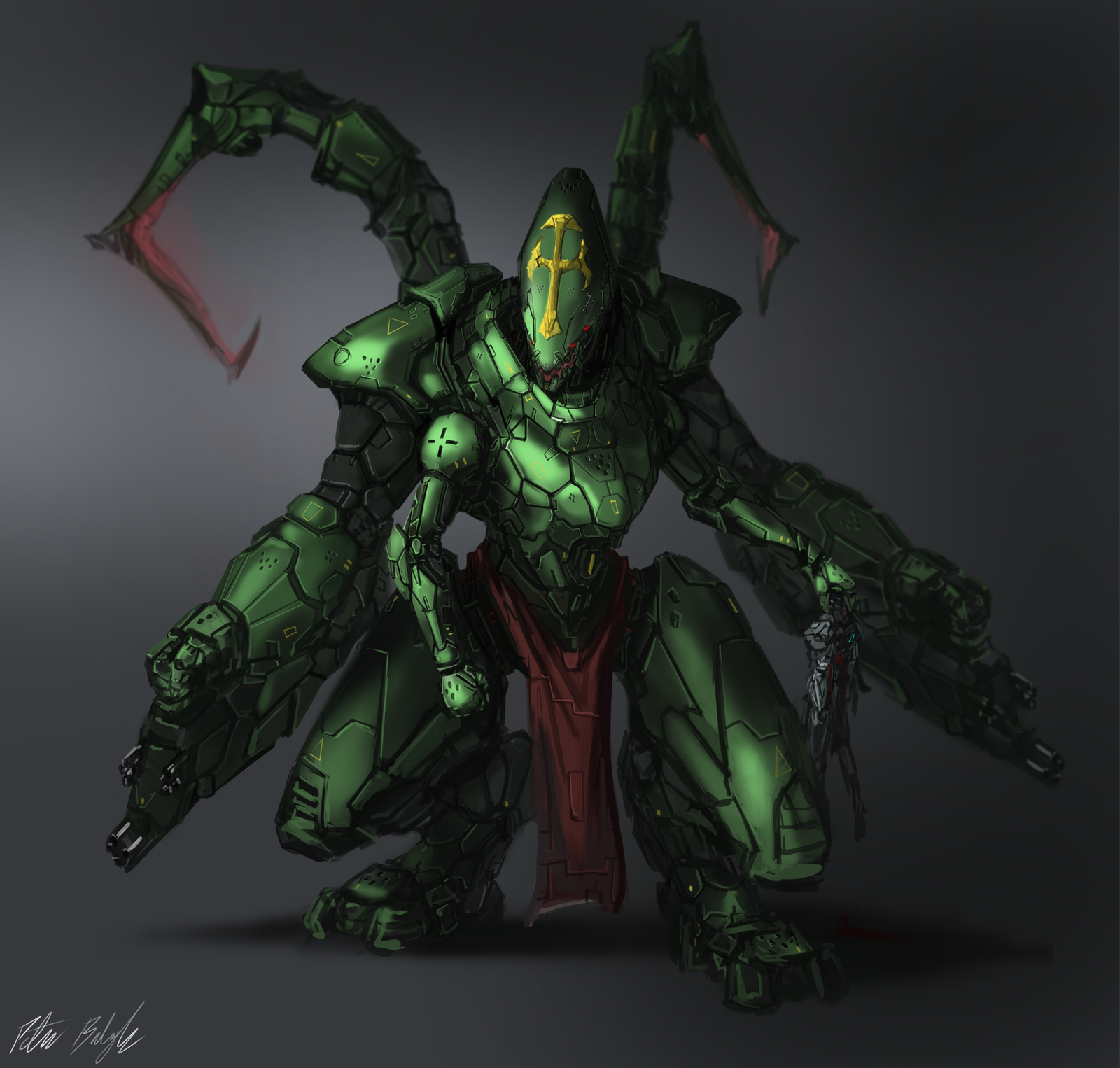 Praetorian Gear Second Form by PeterPrime