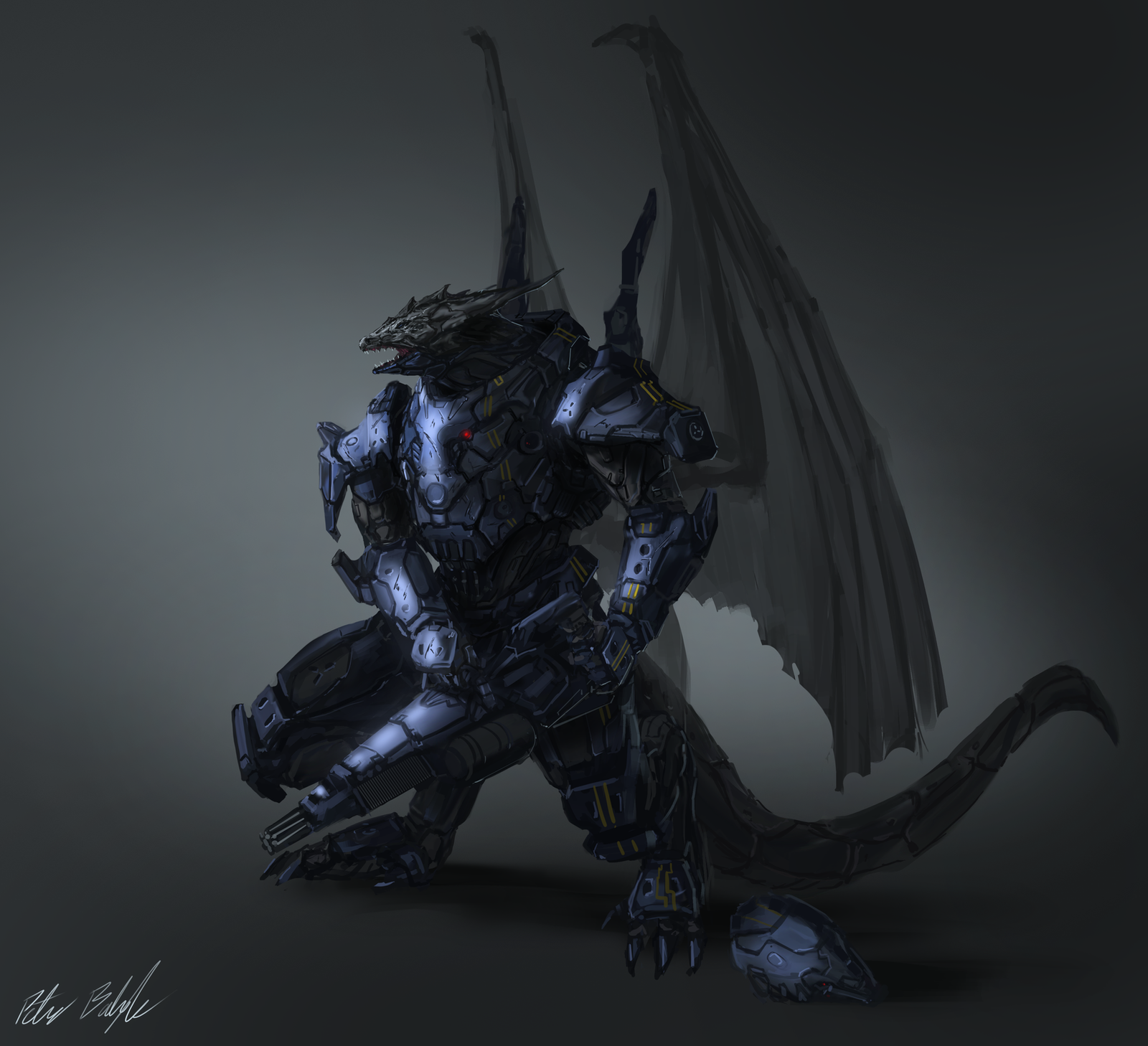 "Kardak Brigar ""Drake"" Battle_dragon_concept_by_peterprime-d7yrz8p"