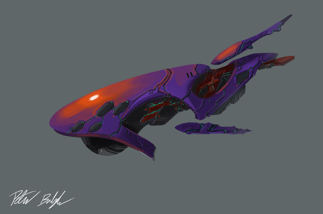 Spaceship commission by PeterPrime