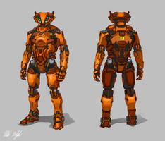 Robot Concept (Commission) by PeterPrime