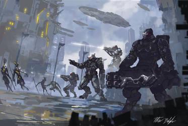 Commission: Alien city invasion