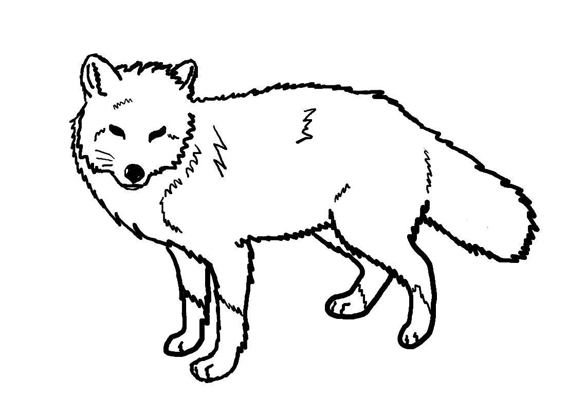 Red fox line art by ohbiteme000 on deviantart for Red fox coloring page
