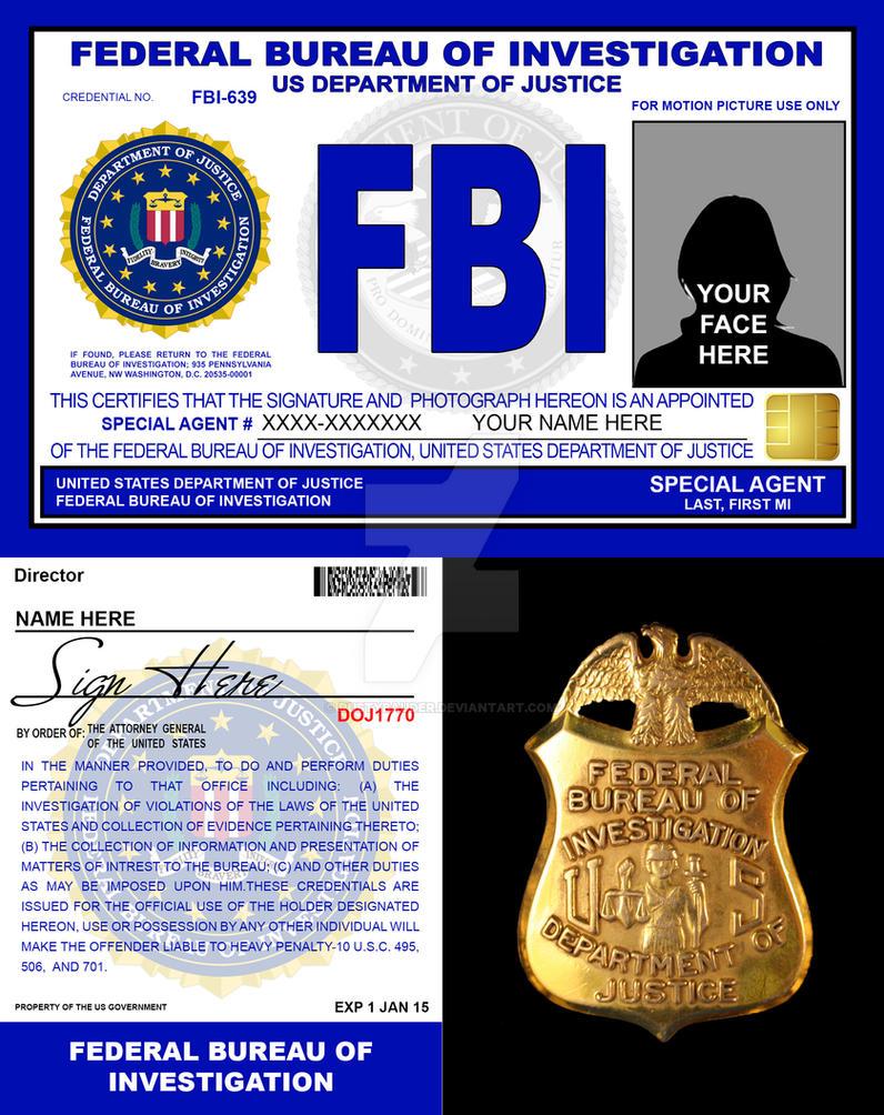 Movie fbi credentials v2 by rustybauder on deviantart - Fbi badge wallpaper ...