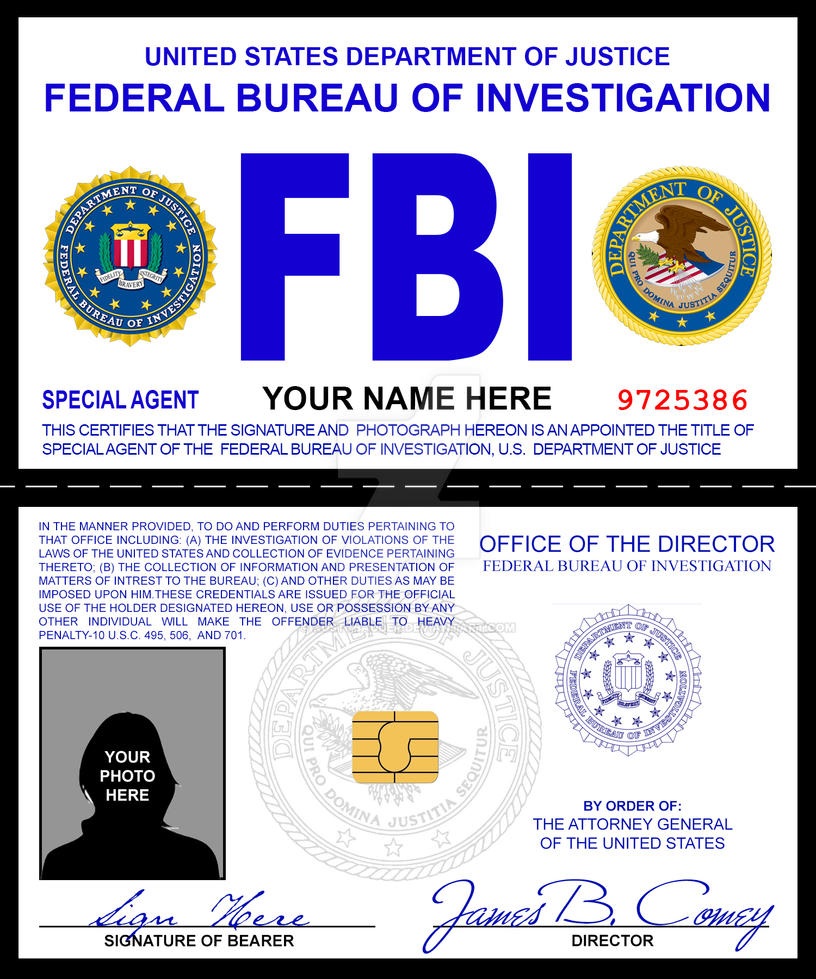 fbi credentials prop by rustybauder on deviantart. Black Bedroom Furniture Sets. Home Design Ideas
