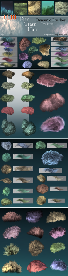 Neri's Dynamic brushes - MS5 / Clip Studio Paint