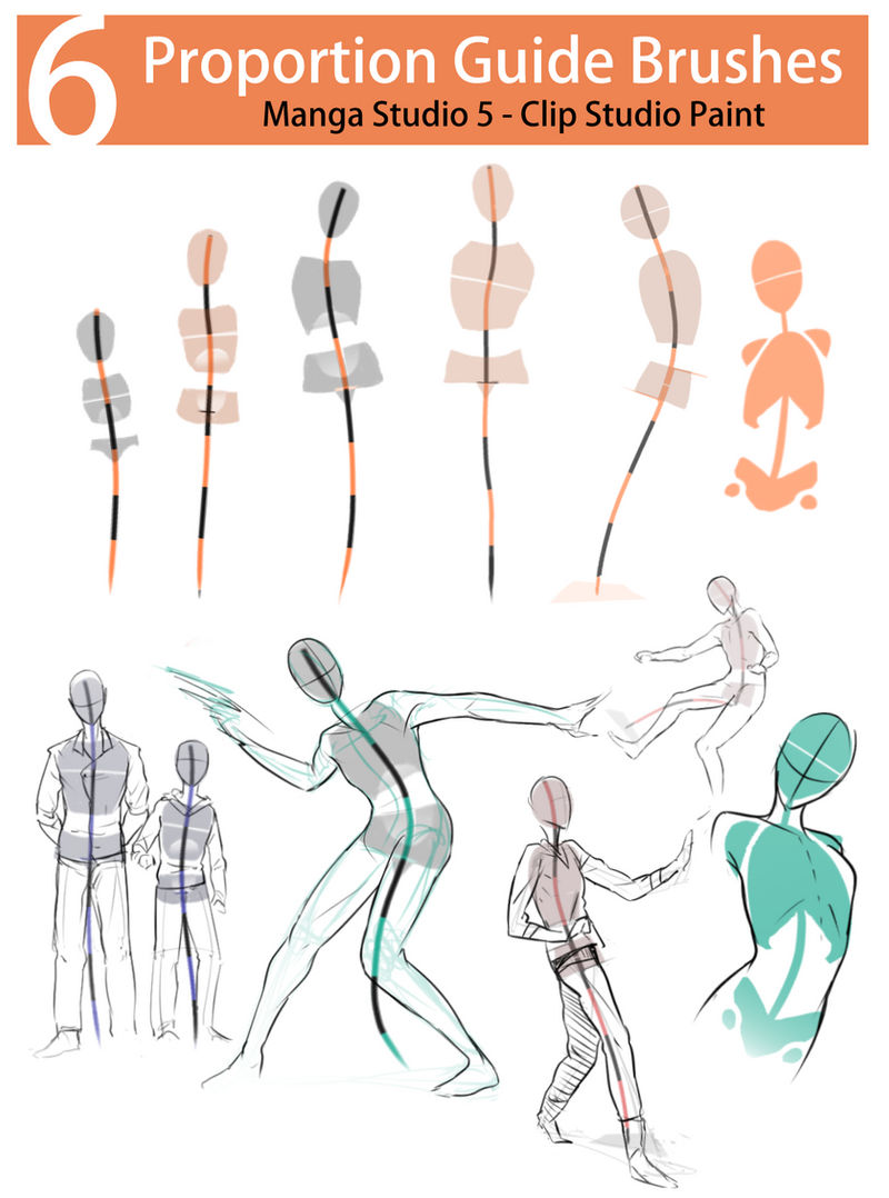 [Brush Pack] - Posing and Proportion