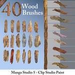 Wood Brushes by Neri-O