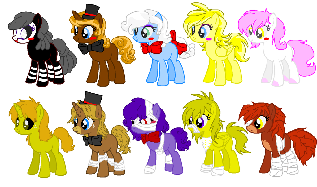 Fnaf 2 Inspired Pony Adopts Closed By Sapphirescarletta