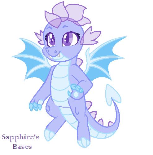 Mlp Base Itty Bitty Dragon By Sapphirescarletta On Deviantart