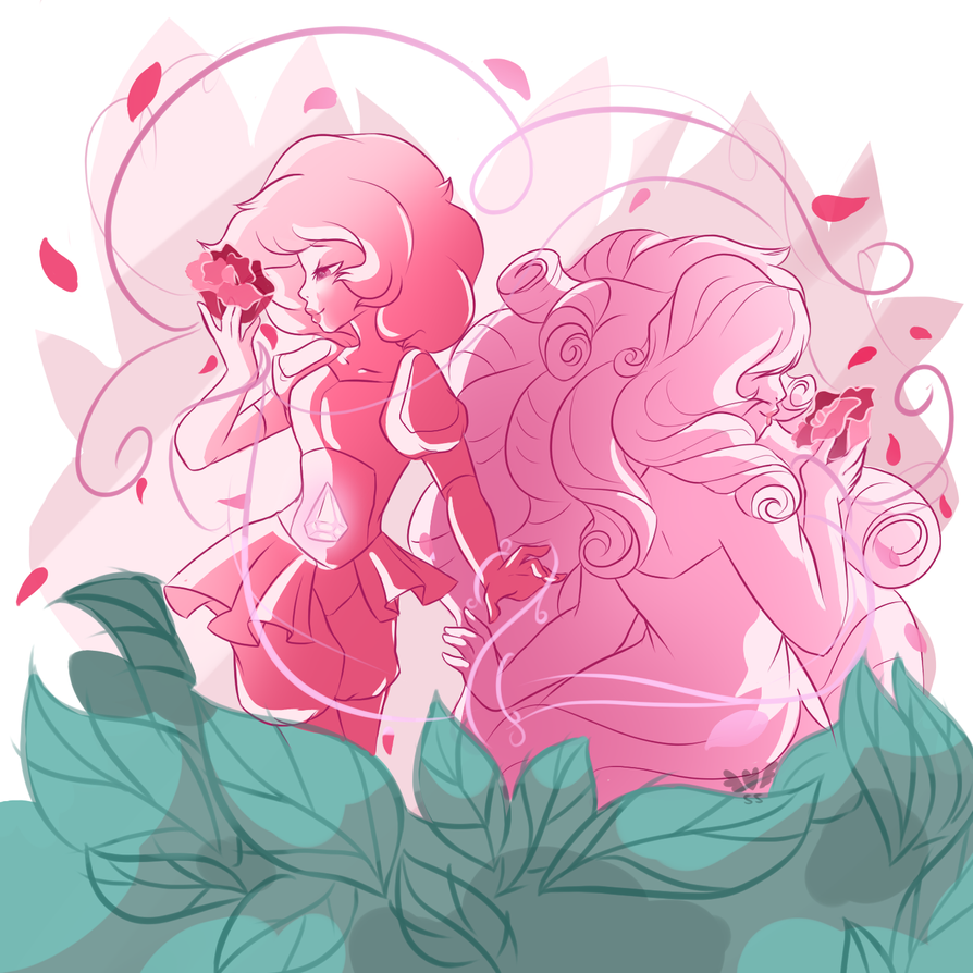 have some rare fanart of other shows cause i feel like it sooo i never drew rose quartz before and since i just watched the recent steven universe episode i got inspired to draw something real quic...