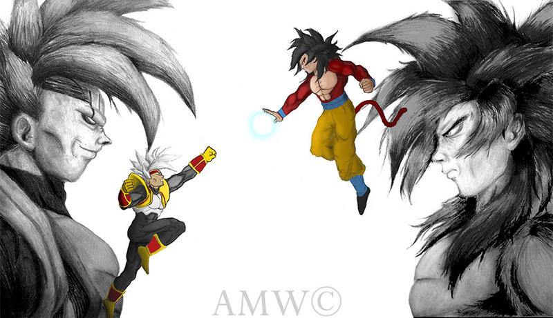 Super Saiyan 4 Goku Vs Baby Vegeta Complete By
