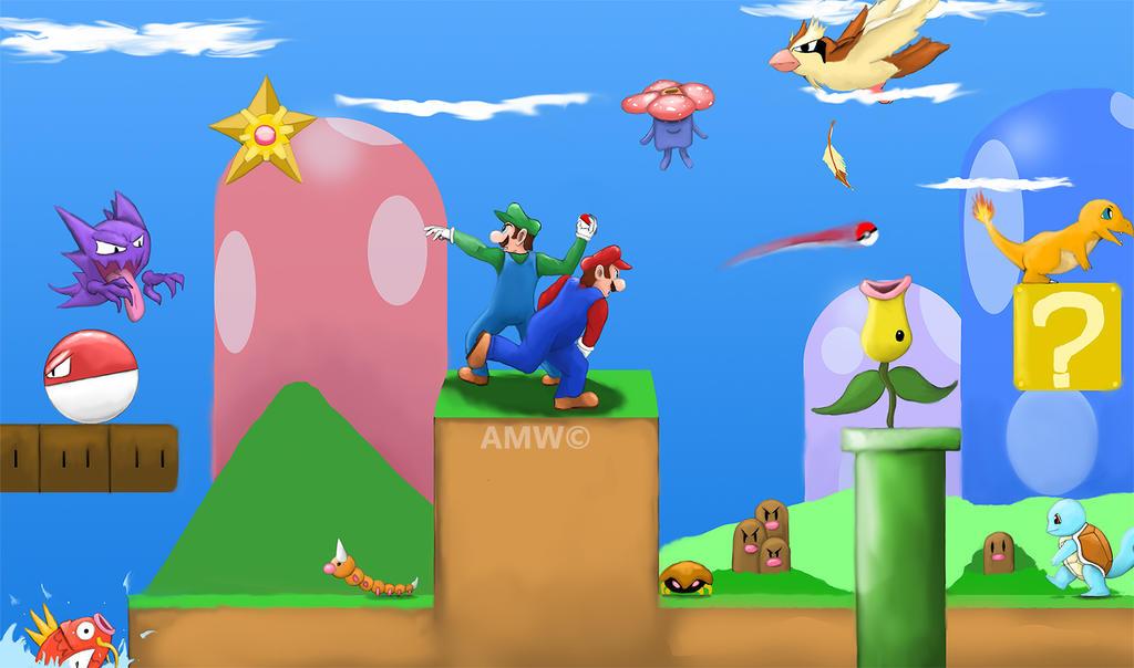 Super Mario Pokemon World- Gotta Catch em' by AveryMoneco