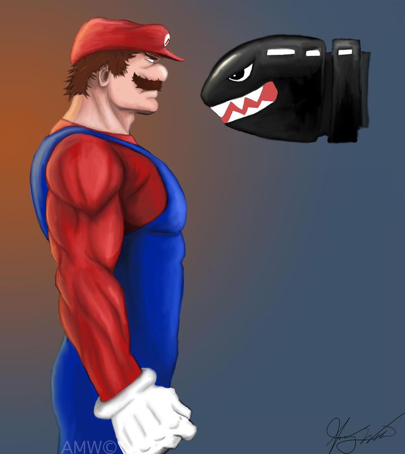 Mario real Mushroom Power-Up