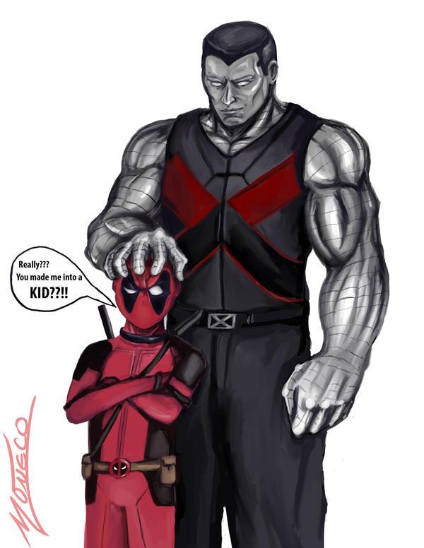 Deadpool(Kidpool) and Colossus by AveryMoneco