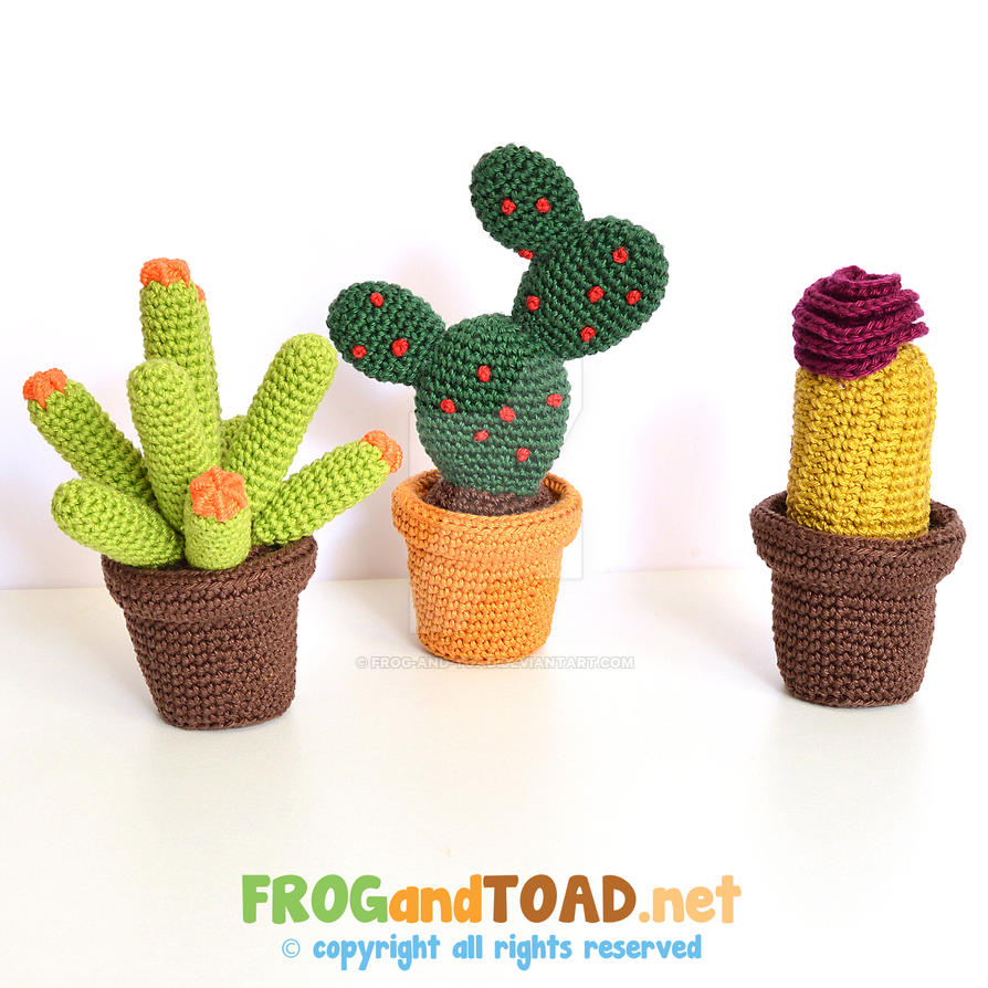 Cactus Crochet Amigurumi Kit FROGandTOAD Creations by FROG-and-TOAD