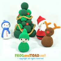 Scene de Noel - Christmas Scene FROGandTOAD by FROG-and-TOAD