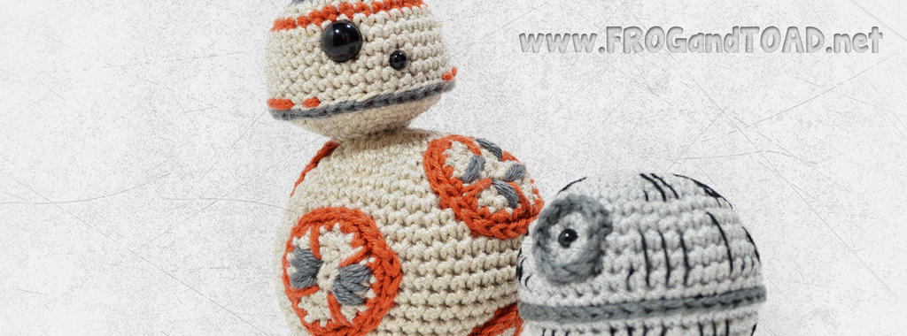 BB8 and Mini Death Star Amigurumi par FROGandTOAD by FROG-and-TOAD