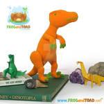 Dinosaur Velociraptor Amigurumi Crochet by FROG-and-TOAD