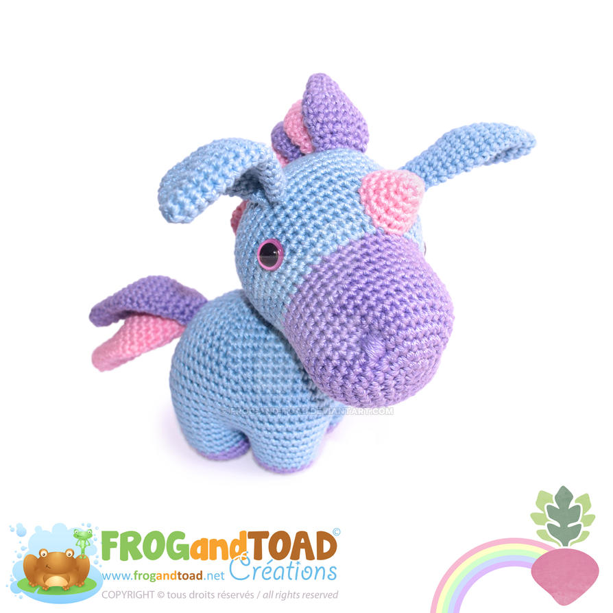 PROSPER - Unicorn Licorne Amigurumi by FROG-and-TOAD