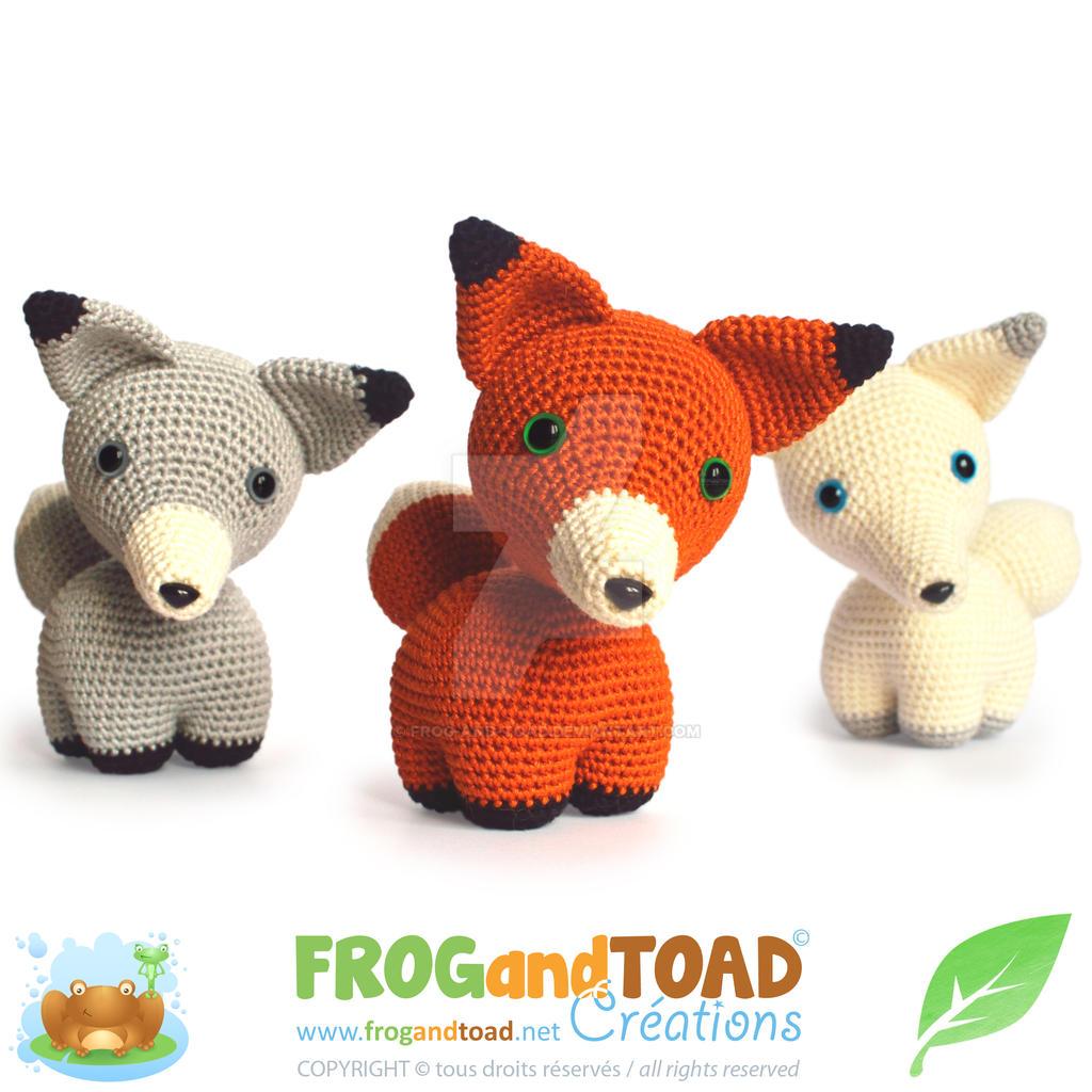 Renard Fox Trio Amigurumi Pattern FROGandTOAD Cr by FROG-and-TOAD