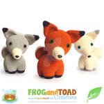 Renard Fox Trio Amigurumi Pattern FROGandTOAD Cr