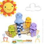 Jellyfish Amigurumi Family - FROGandTOAD Creations
