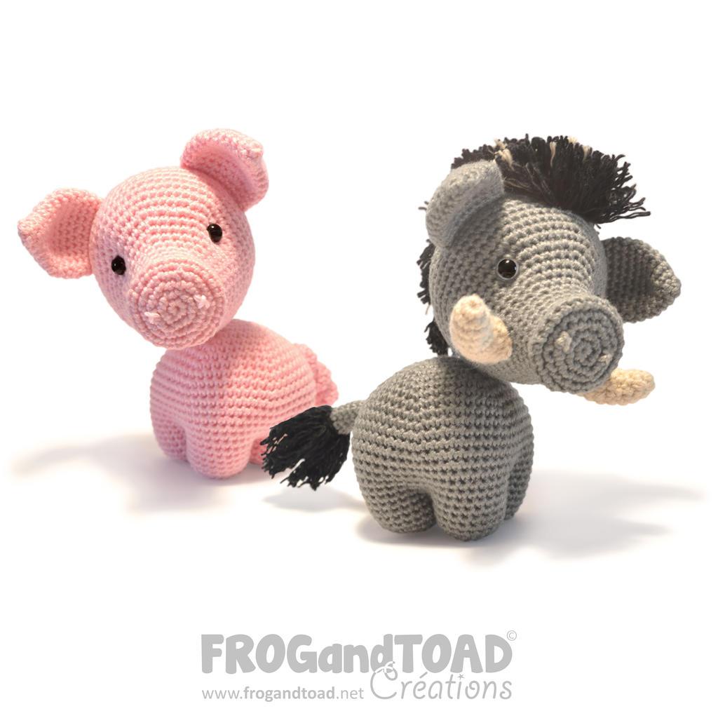Pig and Boar Amigurumi FROGandTOAD Creations