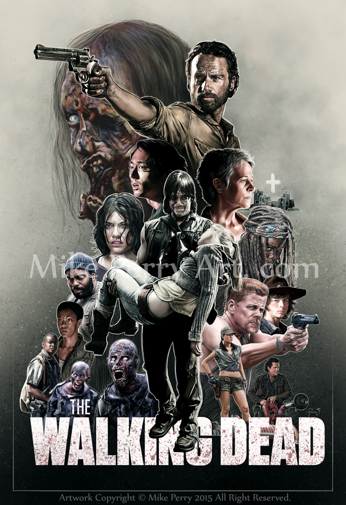 WalkingDeadS5Poster Mperry 2015 by MikePerryArt