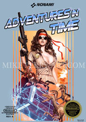 Adventures-In-Time. Faux NES Box Art.
