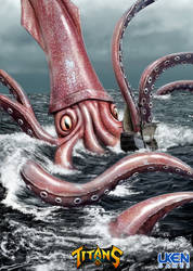 Uken-titans Mperry GiantSquid by MikePerryArt